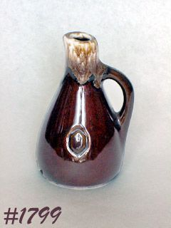 McCOY POTTERY -- OIL CRUET (BROWN DRIP)