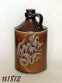 McCOY POTTERY -- BROWN COOKIE JUG COOKIE JAR