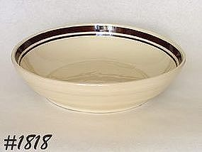 McCOY POTTERY -- STONECRAFT BROWN STRIPE SPAGHETTI BOWL
