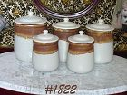 McCOY POTTERY -- GRAYSTONE CANISTER SET (5 PIECES)