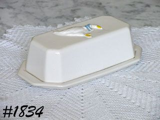 McCOY POTTERY -- COUNTRY ACCENTS BUTTER DISH