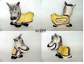 McCOY POTTERY -- SMILING HORSE DRESSER CADDY