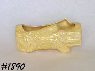 McCOY POTTERY -- LOG PLANTER (YELLOW)