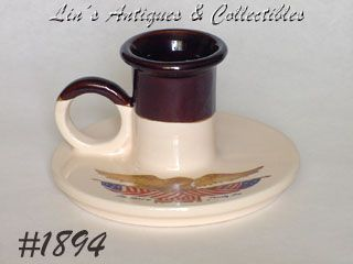 McCOY POTTERY -- SPIRIT OF '76 CANDLEHOLDER