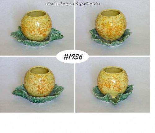 McCOY POTTERY -- FRUIT PLANTER (ORANGE ON LEAF)