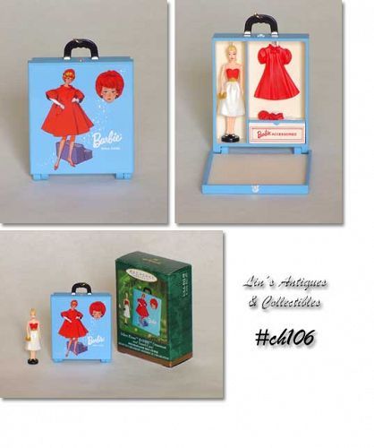 SILKEN FLAME BARBIE WITH TRAVEL CASE ORNAMENTS