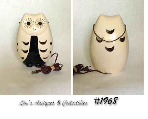 BRUSH POTTERY -- OWL PATIO LIGHT (CANDLEHOLDER)