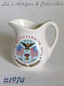 McCOY POTTERY -- BICENTENNIAL MINI PITCHER (6 OZ.)