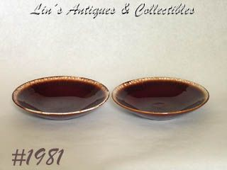 McCOY POTTERY -- BROWN DRIP (FUTURA) BOWLS