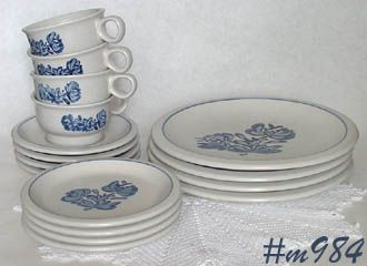 PFALTZGRAFF POTTERY -- YORKTOWNE SERVICE FOR 4