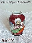 "OCCUPIED JAPAN -- SATSUMA MINI URN (2 1/2"" TALL)"