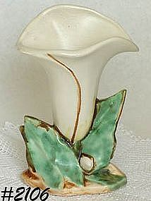 McCOY POTTERY -- SINGLE LILY VASE (WHITE)