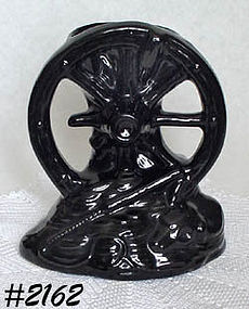 McCOY POTTERY -- WAGON WHEEL VASE (BLACK)