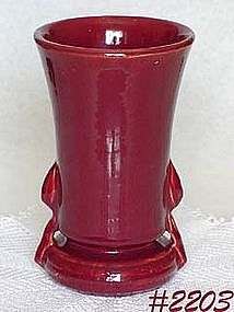 "McCOY POTTERY -- BURGUNDY VASE (8 1/4"")"