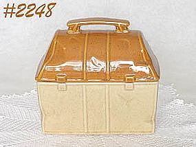 McCOY POTTERY -- LUNCH BOX COOKIE JAR