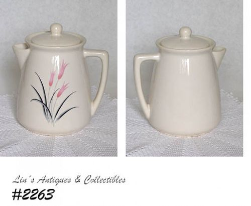 McCOY POTTERY -- COFFEE SERVER WITH UNUSUAL PATTERN