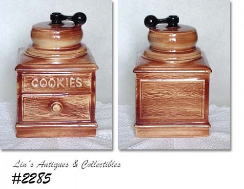 McCOY POTTERY -- COFFEE GRINDER COOKIE JAR