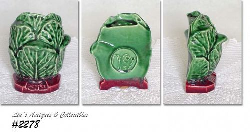 "McCOY POTTERY -- ""CABBAGE"" PEPPER SHAKER"