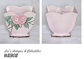 McCOY POTTERY -- WILD ROSE JARDINIERE