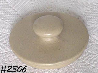 McCOY POTTERY -- BLUEFIELD CANISTER LID (SMALL SIZE)