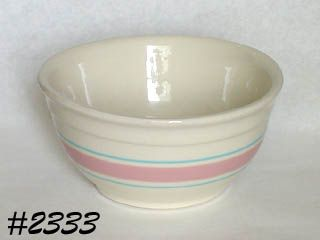 "McCOY POTTERY --  PINK AND BLUE BOWL (7"")"