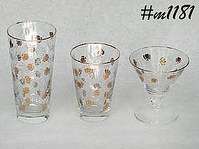 JEWEL COMPANY AUTUMN LEAF GLASSWARE (LIBBEY)