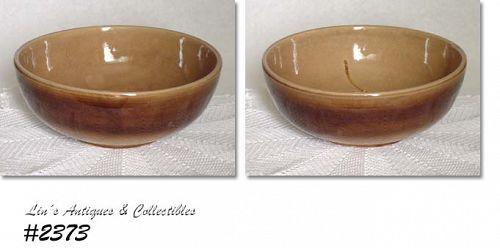 McCOY POTTERY -- TAN (LIGHT BROWN) MIXING BOWL