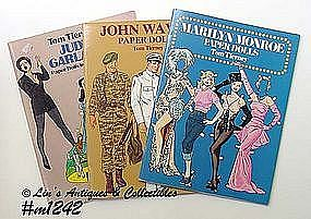 3 PAPER DOLL BOOKS BY TOM TIERNEY
