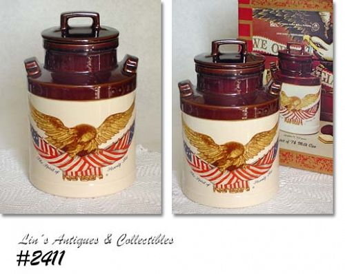 McCOY POTTERY -- SPIRIT OF '76 COOKIE JAR (MINT IN BOX)