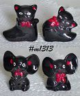 BLACK CATS AND BLACK MICE SHAKERS (2 SETS)