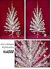 6 FT. ALUMINUM TREE, PENETRAY COLOR WHEEL, & ORNAMENTS!