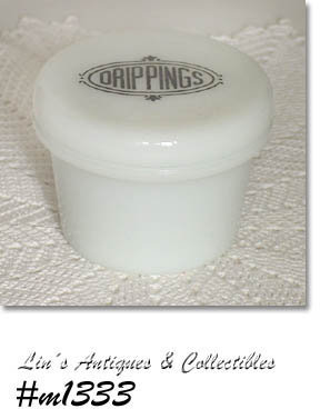 "HAZEL ATLAS ""DRIPPINGS"" JAR WITH LID"