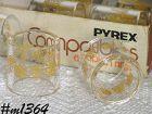 CORNING -- PYREX COMPATIBLES NAPKIN RINGS (6)