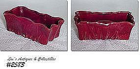 McCOY POTTERY -- BURGUNDY PLANTER