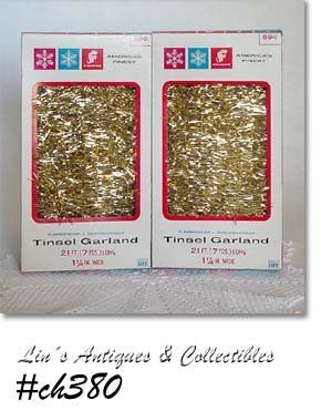 2 BOXES GOLD COLOR TINSEL GARLAND (FRANKE)