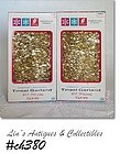 2 BOXES VINTAGE GOLD COLOR TINSEL GARLAND BY GEORGE FRANKE SONS CO!