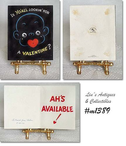 BLACK VALENTINE CARD (WITH MOVING EYES)