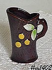 OCCUPIED JAPAN -- MINI PITCHER (BROWN WITH BERRIES)