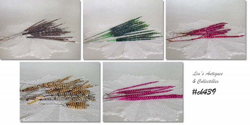 VINTAGE GLASS BEAD DECORATIONS (PICKS)