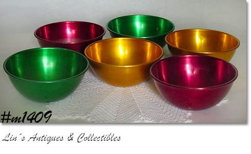 ALUMINUMWARE -- ROYAL SEALY ICE CREAM BOWLS (6)