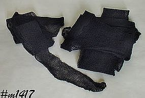 VINTAGE BLACK FISHNET SEAMED STOCKINGS