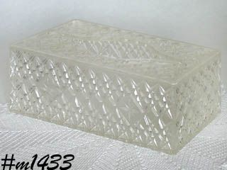RETRO -- LARGE SIZE TISSUE HOLDER (DATED 1963)