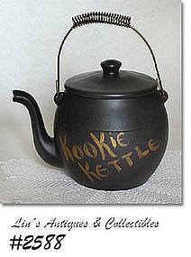 "McCOY POTTERY -- ""KOOKIE KETTLE"" COOKIE JAR"