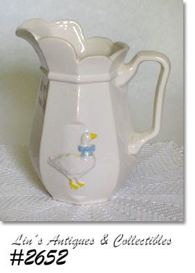 McCOY POTTERY -- COUNTRY ACCENTS MILK PITCHER