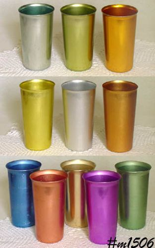 ALUMINUMWARE -- YOUR CHOICE ASSORTED VINTAGE ALUMINUM TUMBLERS