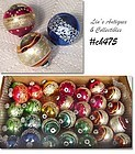 29 VINTAGE GLITTER AND STRIPE SHINY BRITE CHRISTMAS ORNAMENTS!