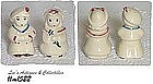 SHAWNEE POTTERY -- SAILOR AND BO PEEP SALT AND PEPPER