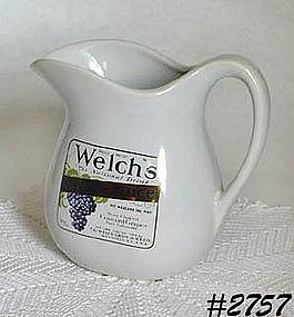 McCOY POTTERY -- WELCH'S GRAPE JUICE PITCHER