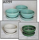 McCOY POTTERY -- FLOWERPOTS WITH ATTACHED DRIP SAUCERS