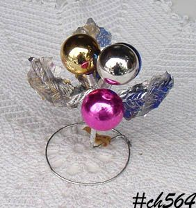 LOT OF 5 VINTAGE ORNAMENT CLUSTERS MADE IN OCCUPIED JAPAN